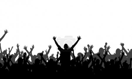 Illustration for Party Silhouette - Vector Background - Royalty Free Image