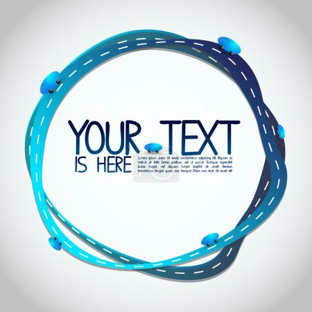 Illustration for Abstract Illustration - Blue Roads Around Your Text - EPS10 Vector Design - Royalty Free Image