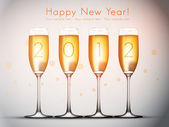 Four glasses of champagne - Happy New Year!