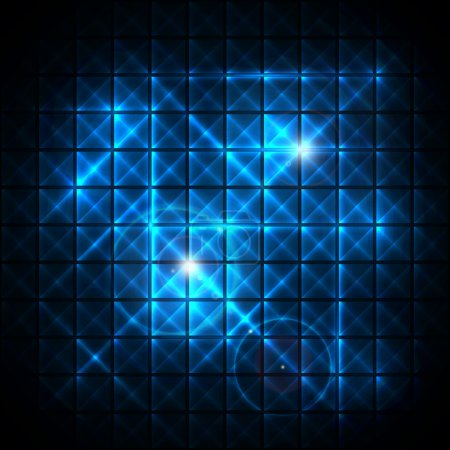 Abstract Neon vector mosaic background