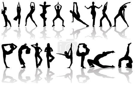 Girl doing yoga poses