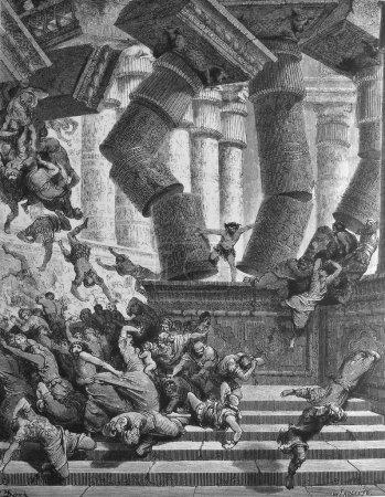 The death of Samson.
