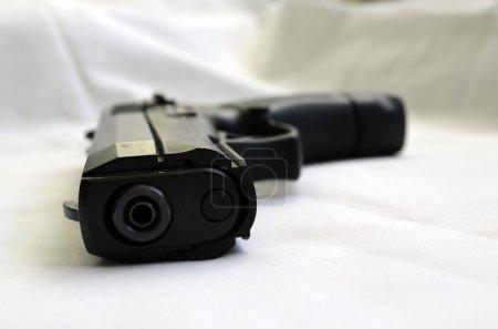 Submachine guns.