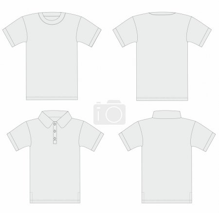 Vector. Men's t-shirt and polo shirt template.