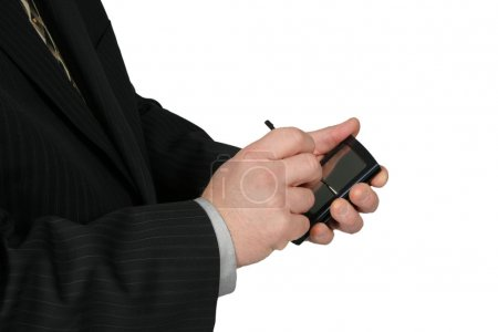 Business Man Using PDA