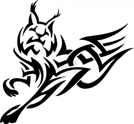 Illustration pour Illustration vectorielle prête pour le vilyle - animal de style tribal - image libre de droit