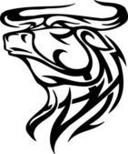 Býk v tribal stylu - vektorový obrázek