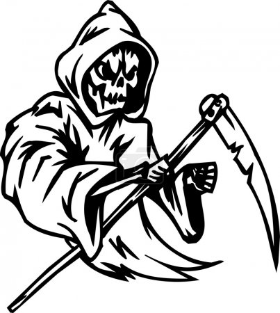 Grim reaper - Halloween Set - vector illustration