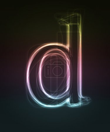 Small neon font