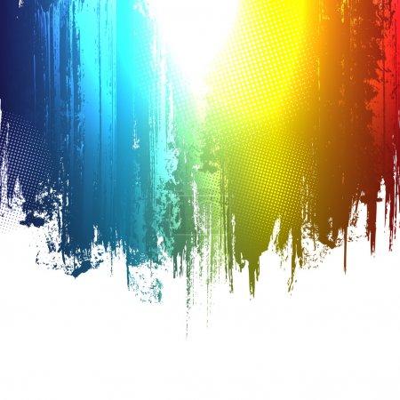 Illustration pour Gradient peinture éclaboussures de fond. Effet vectoriel eps10 . - image libre de droit