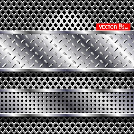 Illustration for Abstract vector steel background. Сhrome design texture. - Royalty Free Image