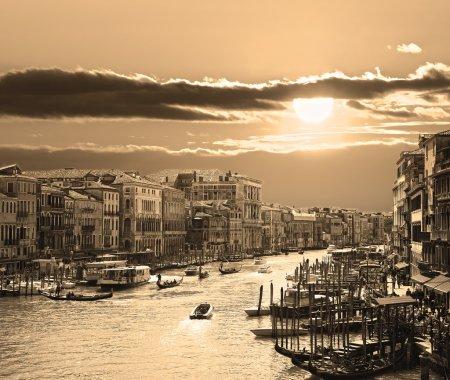 Venice, sepia toned picture