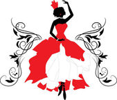 Graphic silhouette of a woman Isabelle series