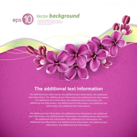 Photo for Spring background for the design of flowers. Vector illustration - Royalty Free Image