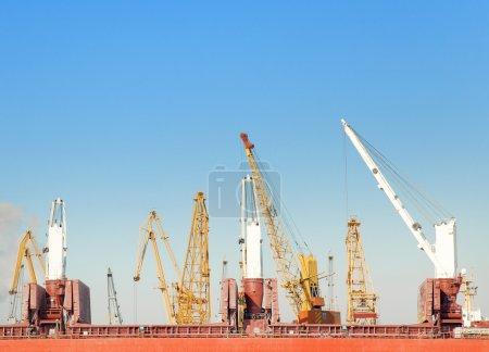 Winter in a Odessa seaport
