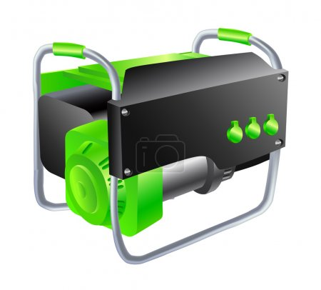 Illustration for Green Generator on a white background - Royalty Free Image