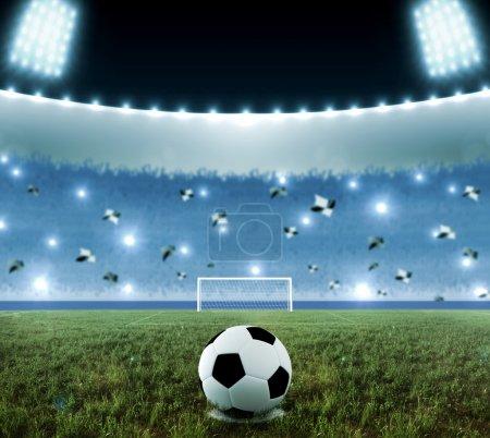 Soccer penalty kick night