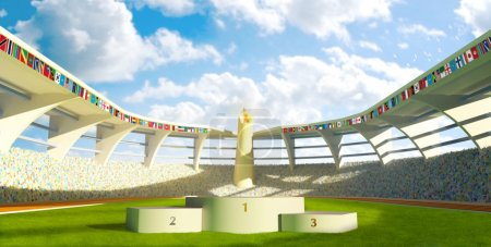 Olympic Stadium with podium