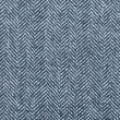 A macro closeup of a blue fabric weave pattern for...