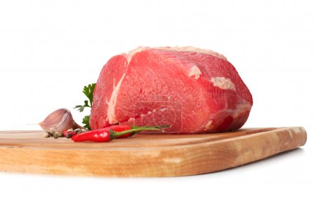 Photo for Raw meat on wood board - Royalty Free Image