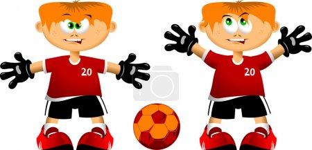Little goalkeeper