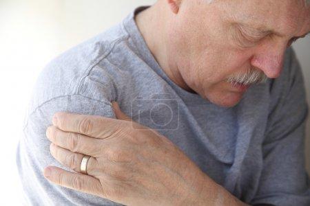 Shoulder pain in a senior man