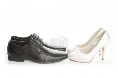 Wedding couple of shoes