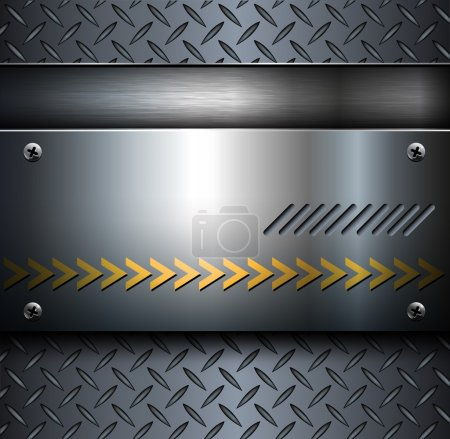Illustration for Technology background, metallic with diamond plate texture.. - Royalty Free Image