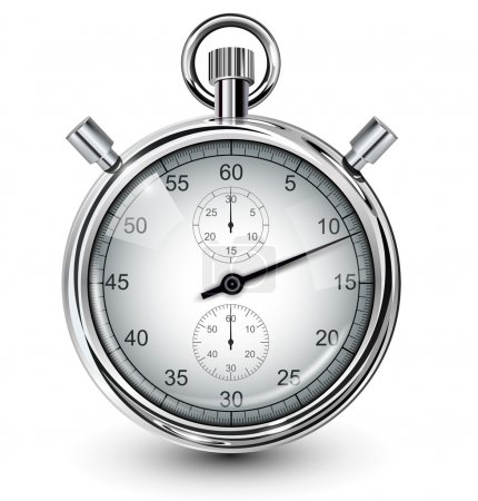 Illustration for Vector stop watch, realistic illustration. - Royalty Free Image