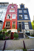 Colorful houses in Amsterdam