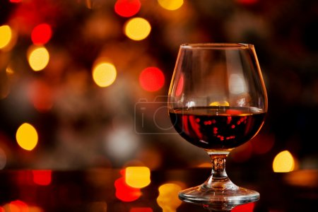 Cognac in front of a bokeh background