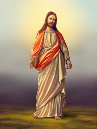 Photo for Jesus Christ of Nazareth. Original digital illustration - Royalty Free Image