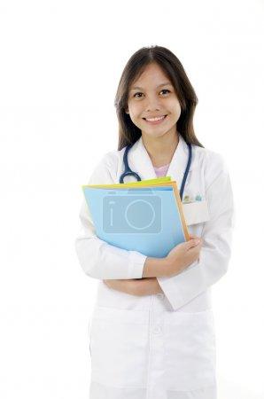 Asian mixed malay race medical student