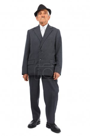 Photo for Full length portrait of a senior man isolated on white background - Royalty Free Image
