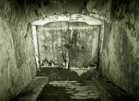 Grunge basement entrance