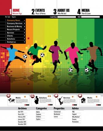 Illustration pour Modèle de site Web facile à modifiable - image libre de droit