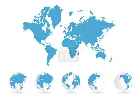 Illustration pour Carte du monde - image libre de droit