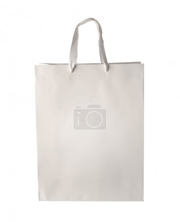 White Shopping bag template isolated