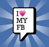 I love My facebook background illustration