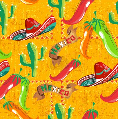 Mexican icons pattern