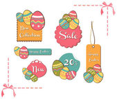 Easter eggs sales set background