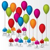 Všechno nejlepší k narozeninám štítky na barevné balónky