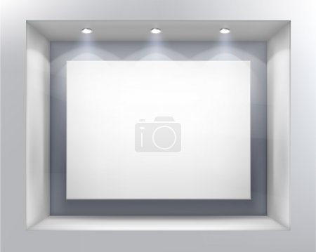 Photo for Empty show-window of shop. Vector illustration. - Royalty Free Image