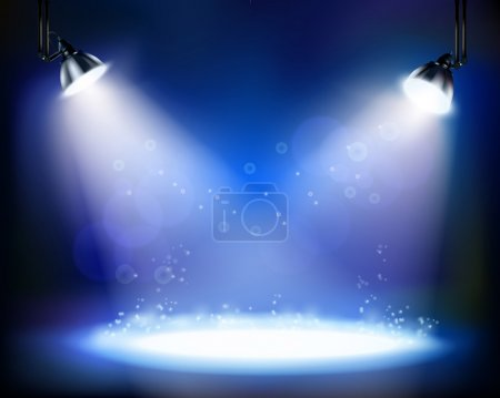 Illustration for Stage spotlights. Vector illustration. - Royalty Free Image