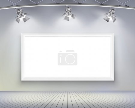Illustration for Wall with picture. Vector illustration. - Royalty Free Image