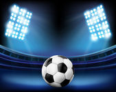 Football on the stadium