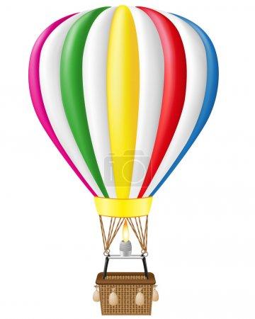 Illustration pour Illustration de vecteur de ballon air chaud isolé sur fond blanc - image libre de droit
