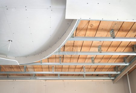 Suspended ceiling, consisting of plasterboard