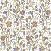 Light seamless floral pattern in vector