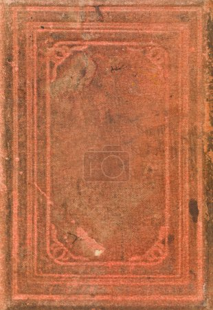 Photo for Red Antique Book Full Frame - Royalty Free Image